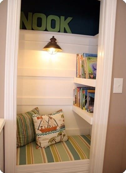 Turn Closet Into Reading Nook by Closet Turned Into Reading Nook Kid S Room