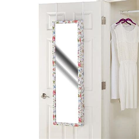 over the door beauty armoire with full length mirror over the door jewelry armoire with full length mirror hsn