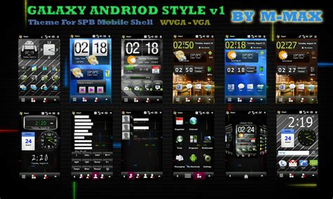 themes for android galaxy star spb theme galaxy android style for wm