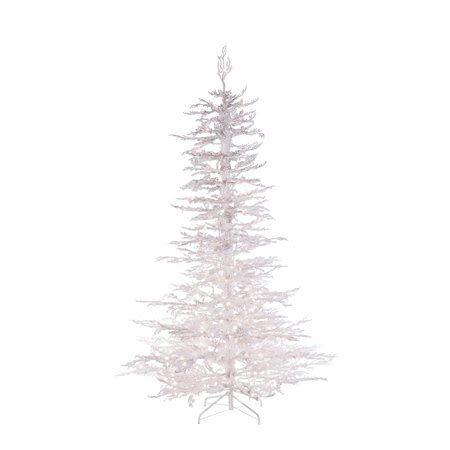 sterling nine foot flocked led trees sterling 7 5ft pre lit flocked white twig tree with 300 ul clear lights walmart