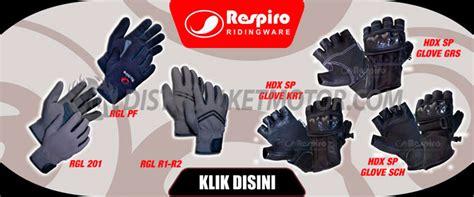 Harga Jaket Merk Respiro sarung tangan motor kulit dan sintetik