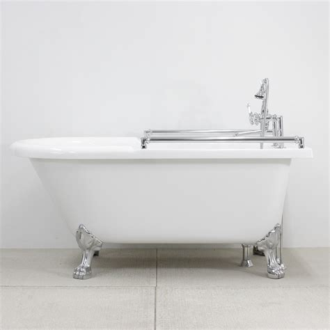 bathtub cl on grab bars 59 quot towel bar classic clawfoot tub and faucet pack