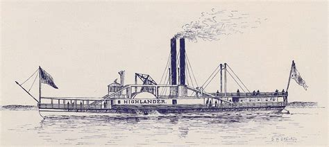 steam boat drawing hudson river model steamboats