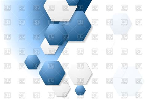 corporate layout free vector corporate background with blue and white hexagons royalty