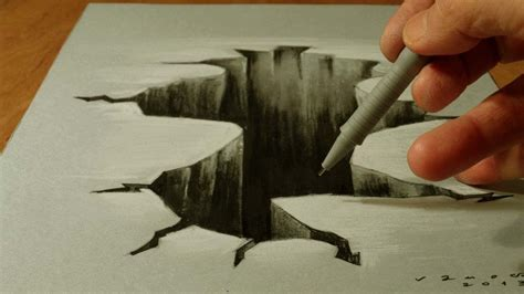 3d drawing trick on paper drawing 3d costin craioveanu