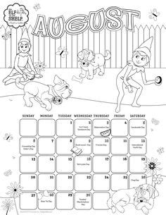elf on the shelf pet coloring pages march 2017 printable calendar coloring pages for kids