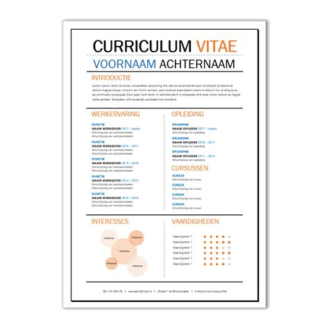 cer van layout cv template voorbeeld images certificate design and template