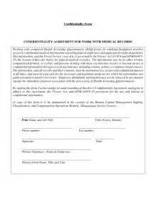 Confidential Agreement Template Sample Non Disclosure Agreement Confidentiality