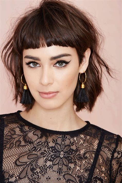 haircuts with description 17 best ideas about short bangs hairstyles on pinterest