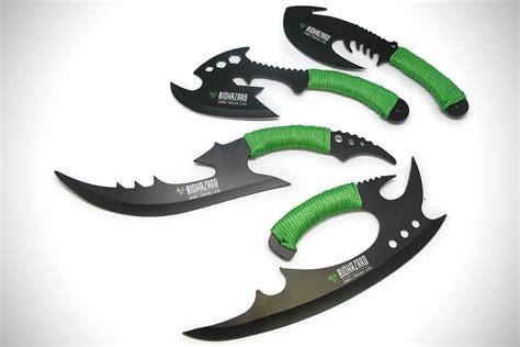 cool survival knives cool biohazard hack n slash knives