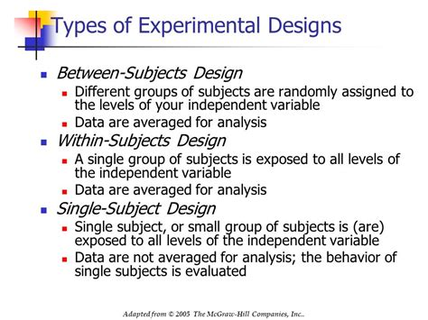 experimental design problems using between subjects and within subjects experimental