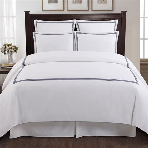 hotel collection bedding sets echelon home three line hotel collection cotton sateen 3 piece duvet cover set