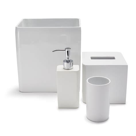 Bathroom Accessories White Lacca White Bath Collection