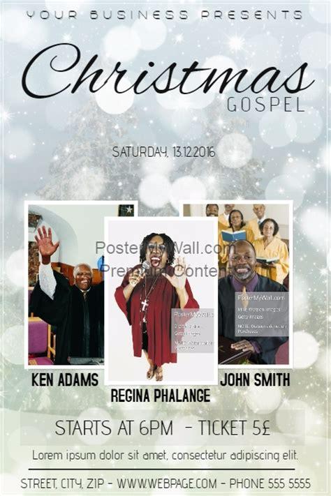 gospel meeting flyer template gospel church event concert poster template