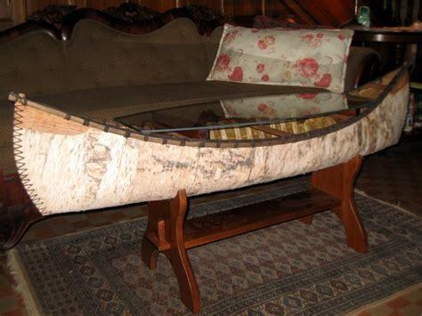 Canoe Coffee Table by Birch Bark Canoe Coffee Table