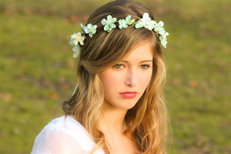 adorable girls headband of ivory silk flowers great for assortment of very dazzling headpieces made with fresh