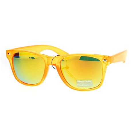 Colored Lens Sunglasses colored reflective mirror lens horn pop color