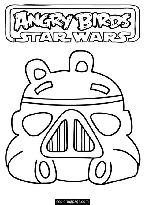 star wars coloring pages preschool angry birds star wars storm trooper pig printable coloring