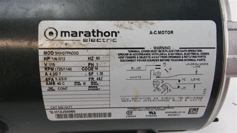 marathon electric motor model numbers