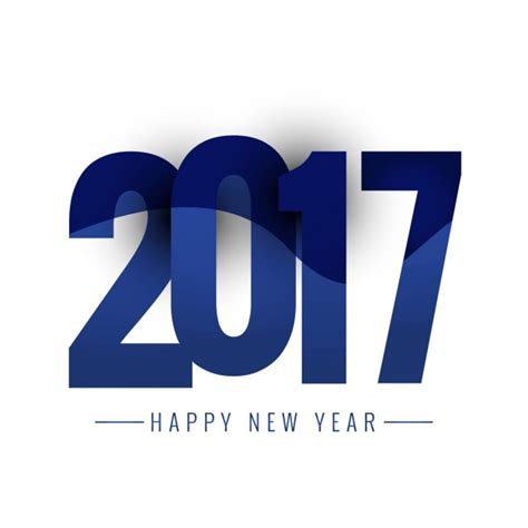 new blue color new year 2017 blue color vector free