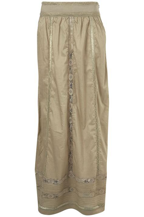 topshop maxi skirt grey lace panel toppingyou