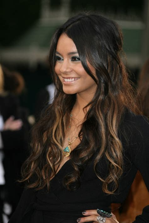 hairstyles and pick a boo color for brunette women over 50 vanessa hudgens ombre hair hair affair pinterest