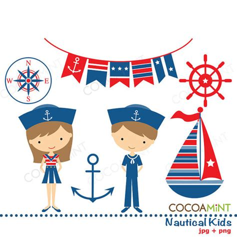 Nautical Wedding Clipart by Items Similar To Nautical Clip On Etsy