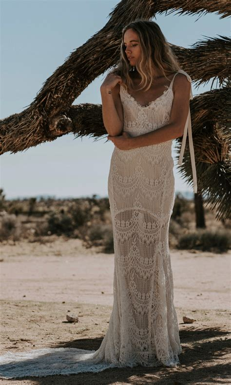 backless lace o keeffe backless lace bohemian wedding dresses open