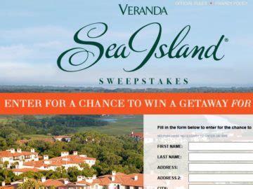 Veranda Sweepstakes - veranda sea island getaway sweepstakes