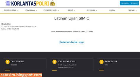 membuat sim b1 umum tes ujian sim c online cara membuat sim