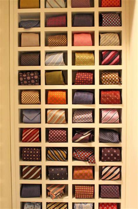 tie closet organizer tie cubbies storage closet fashion