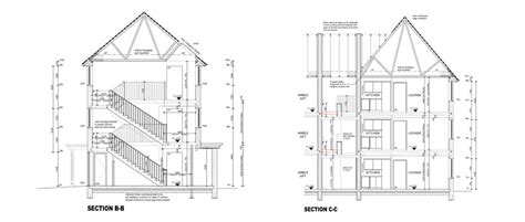 section working drawing our projects longford gloucester