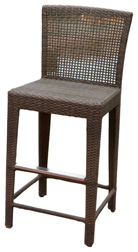 Outdoor Wicker Bar Stool Arizona Outdoor Wicker Bar Stool Tropical Outdoor Bar Stools And Counter Stools By Great