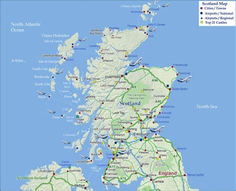 map scotland scotland map