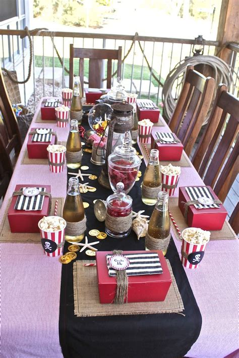 pirate themed table decorations kara s ideas birthday themes captain