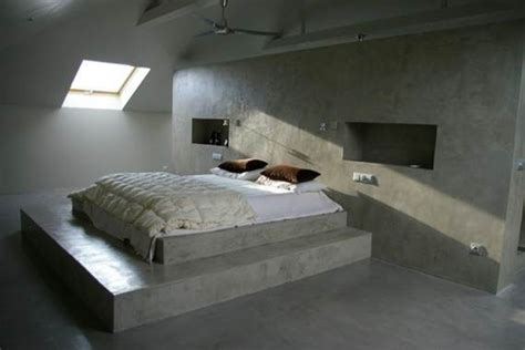 concrete bed solacir decorative concrete interiors contemporary