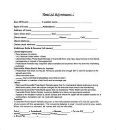 Rental Template Agreement Sample Booth Rental Agreement 8 Documents In Pdf