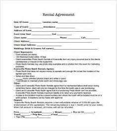 rental contracts templates free booth rental agreement 8 free documents in pdf