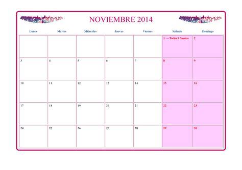Calendario Lunar Noviembre 2014 Calendario Noviembre 2014