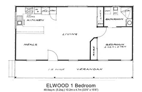 flat floor plan 1 bed granny flats willow grove