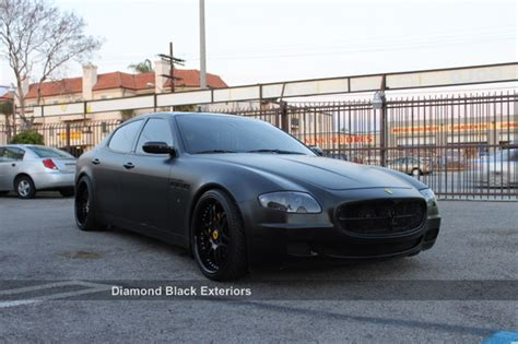 satin black maserati maserati quattroporte wrapped in satin matte black