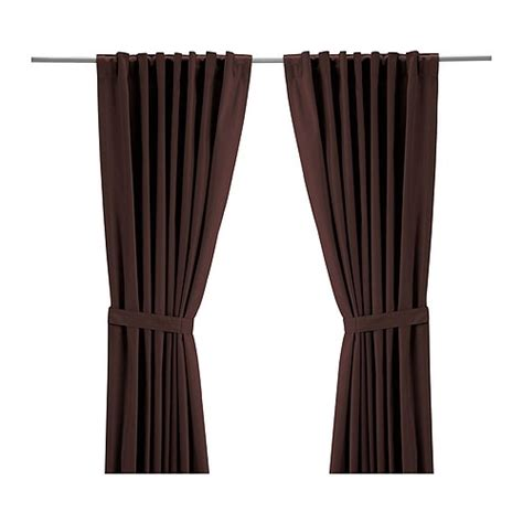 ikea brown curtains ritva curtains with tie backs 1 pair ikea