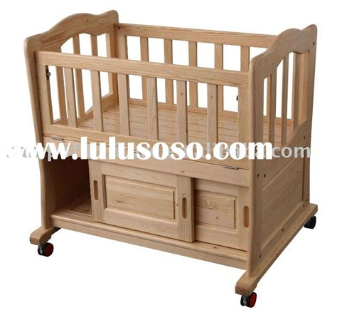 Cribs With Wheels by Sruce Wood Crib With Locker And Wheels For Sale Price