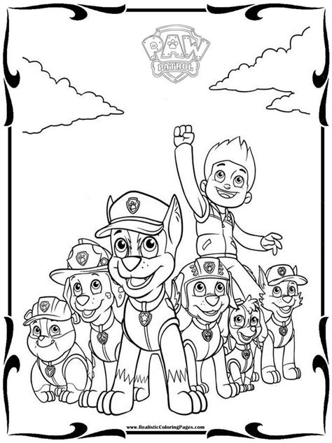 characters coloring pages paw patrol characters coloring pages 13 print color craft