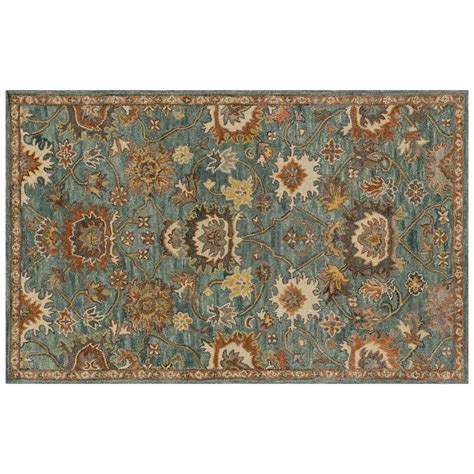 5 x5 rug underwood blue rust rug 5 x 8
