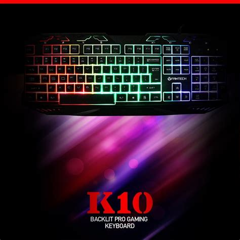 Keyboard Fantech Fantech K10 Backlit Pro Gaming Keyboard For Desktop Laptop