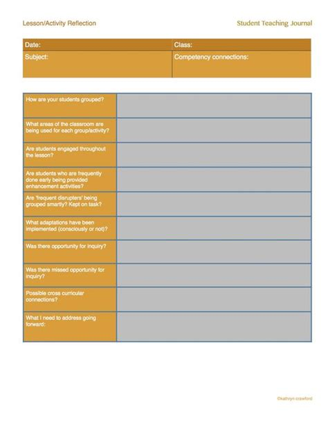 Student Teacher Teaching And Student On Pinterest Coaching Reflection Template