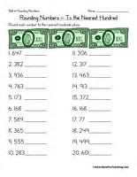 rounding to the nearest hundred worksheet have fun teaching