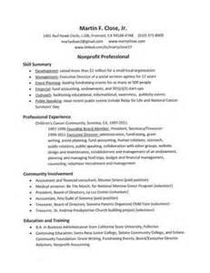 non profit resume writer