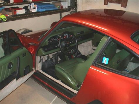 porsche 911 olive green porsche 930 with olive green leather interior